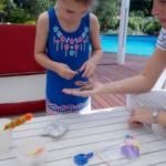 Kids pretend play shop-keeper
