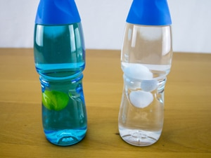 Toddler Sensory bottles sun-and-clouds
