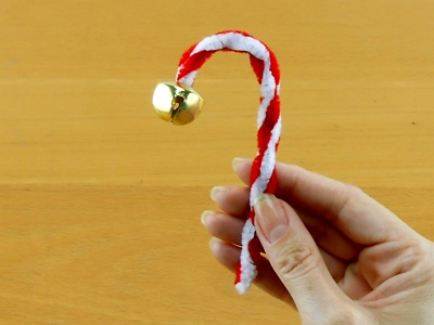 Easy Christmas Crafts kids candy cane bell ornament