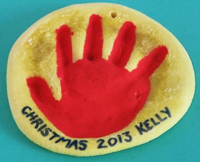 3-Christmas-crafts-for-kids-salt-dough-hand-ornament
