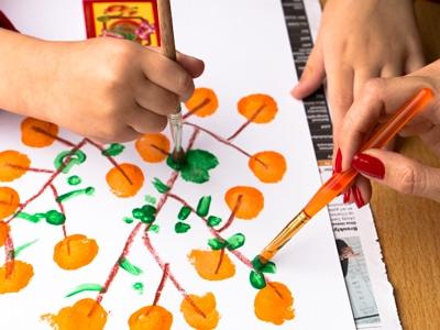 Step 4: Step 4: Mandarin Orange Tree paint green leaves