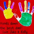 Best Fathers Day DIY card Hands Down