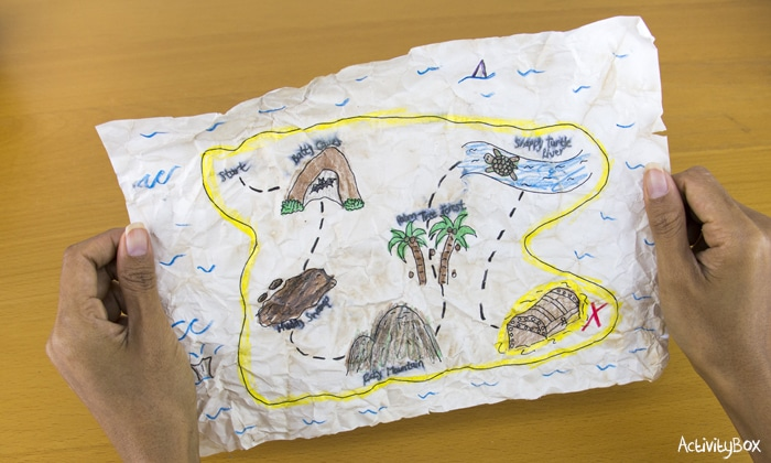 ActivityBox Pirate Treasure Map Rainy day activities for kids in Hong Kong