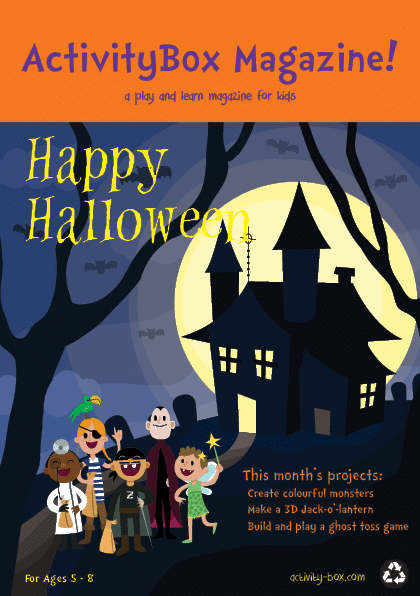 Kid Halloween ActivityBox Magazine