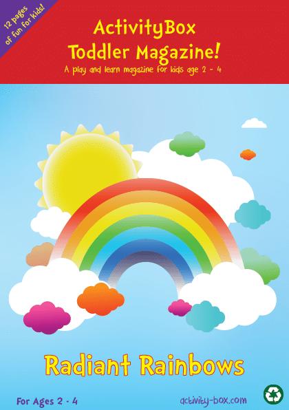 Toddler Rainbows ActvityBox Magazine