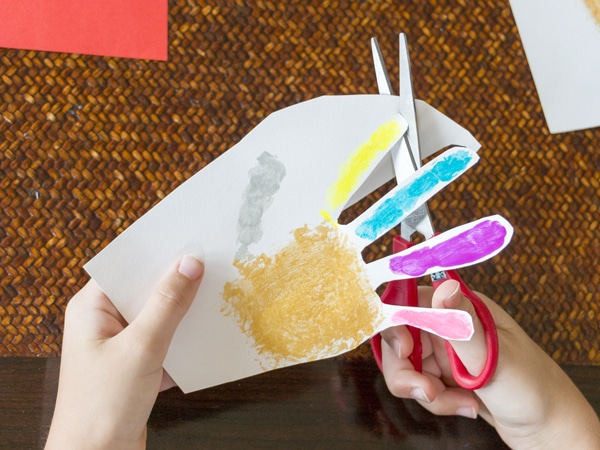 ActivityBox DIY Father's Day Card Handprint Cut out fingers