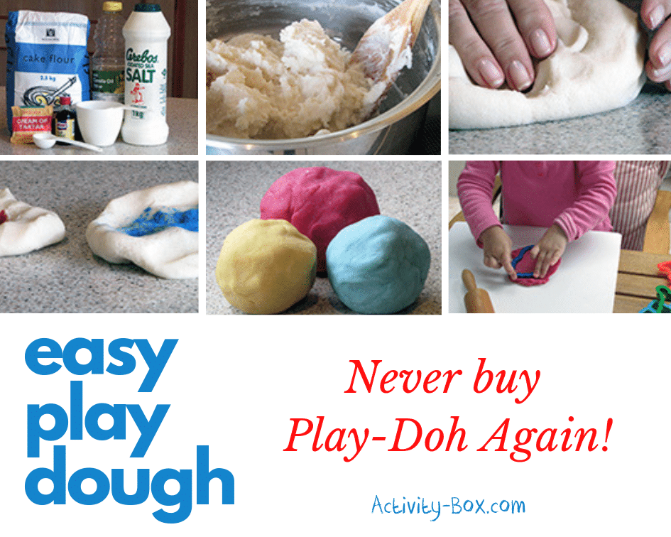 Easy play dough recipe from ActivityBox
