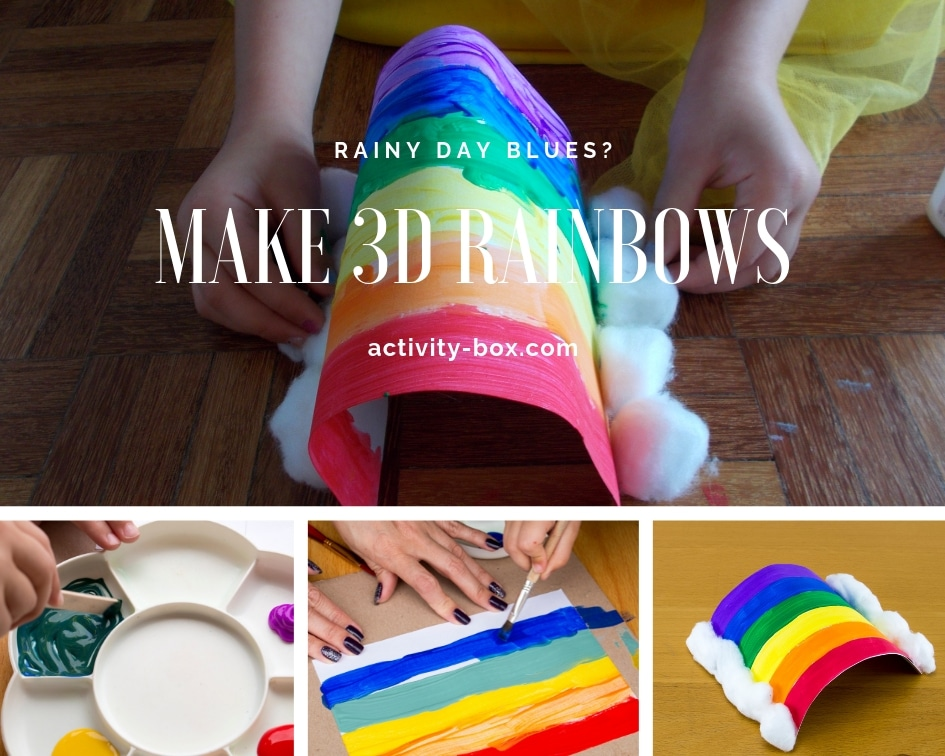 Fun Rainbow Art And Crafts Activity For Kids On A Rainy Day