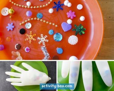 Frozen Hand Kids Ice ActivityBox Step 1