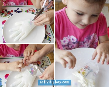 Frozen Hand Kids Ice ActivityBox Step 2
