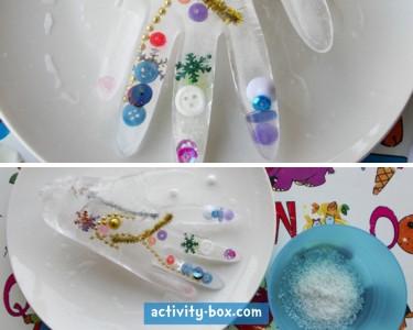 Frozen Hand Kids Ice ActivityBox Step 3