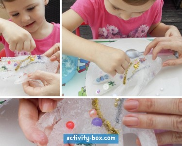 Frozen Hand Kids Ice ActivityBox Step 4