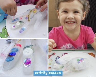 Frozen Hand Kids Ice ActivityBox Step 5