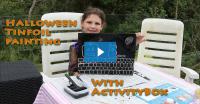 Halloween Art for Kids Tinfoil Painting Video DIY