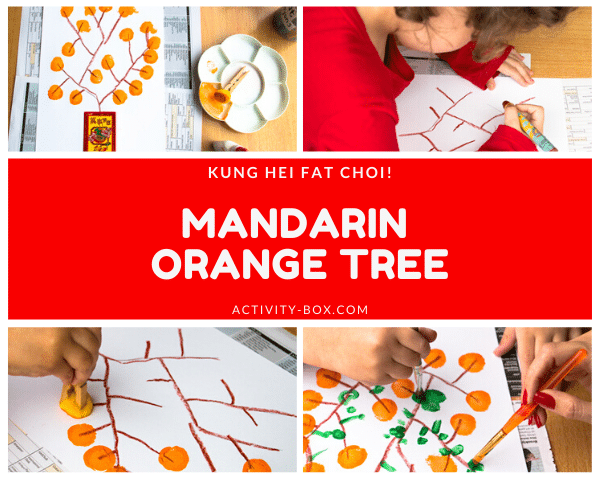 Mandarin Orange Tree Art From ActivityBox