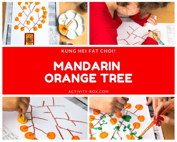 Mandarin Orange Tree Art From ActivityBox